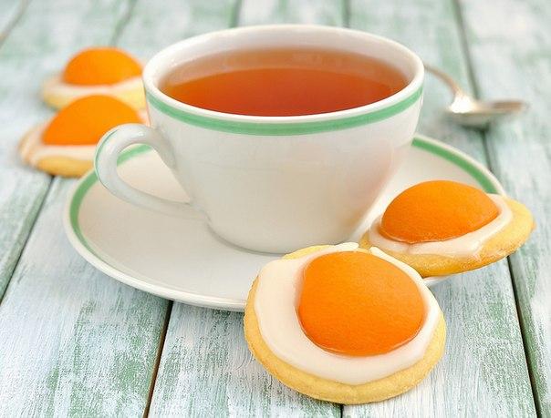 """Печенье """"Яичница"""" с абрикосами"""