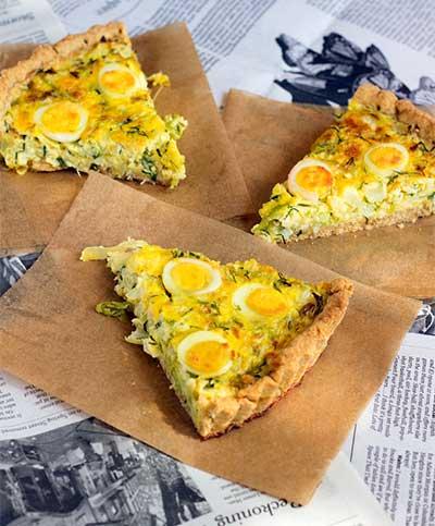 Тарт с яйцами и капустой