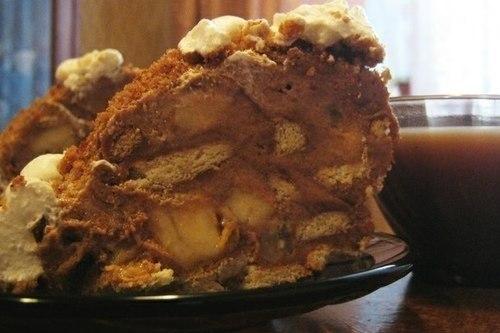 Торт с овсяным печеньем