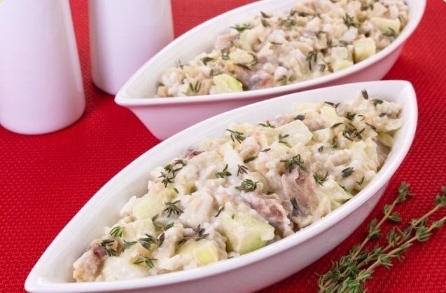 Салат из сельди с картофелем и луком