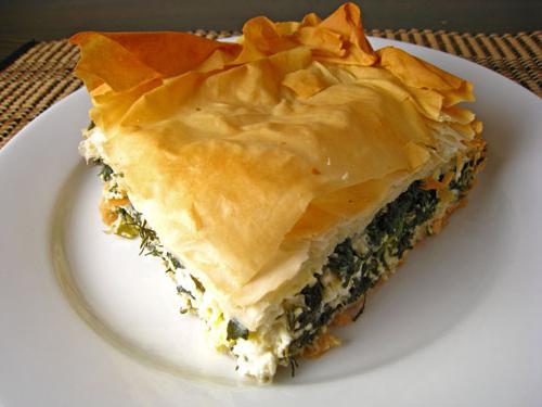 Луковый пирог с творогом