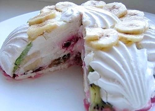 """Торт """"Бело-розовый рай"""""""